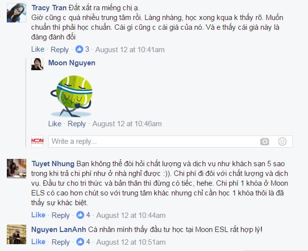 bình luận về giá Moon ESL