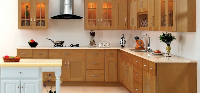 cupboard-kitchen-design-with-wooden-cabinet-idea-and-white-wall-color